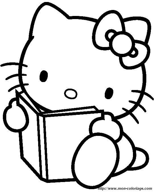 COLORIAGE HELLO KITTY (livre+Hello Kitty)
