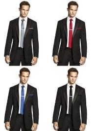 Men's Skinny Tie in Matte Satin