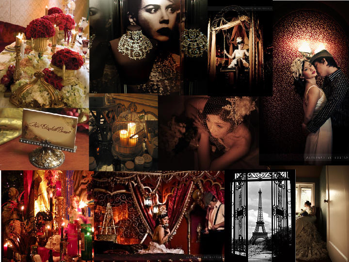 Moulin Rouge  PANTONE WEDDING Styleboard  The Dessy Group