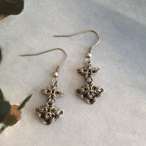 Mjolnir Chainmaille Earrings
