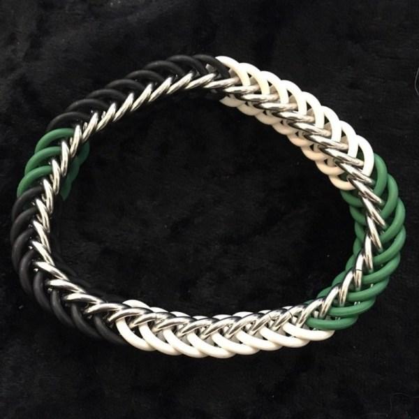 Agender Pride Chainmaille Bracelet by Destai