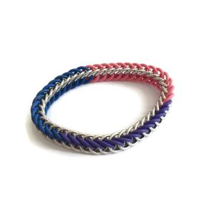 Bi Pride Chainmaille Bracelet by Destai