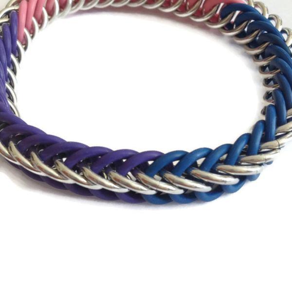 Bi Pride Chainmaille Bracelet by Destai
