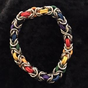 Rainbow Byzantine Bracelet by Destai