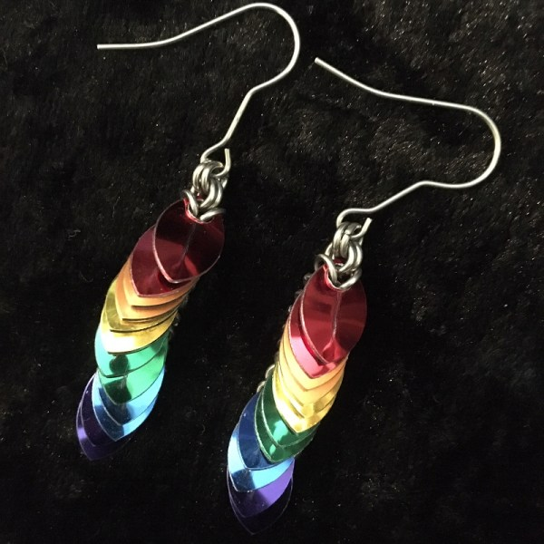 Rainbow Dragontail Earrings by Destai