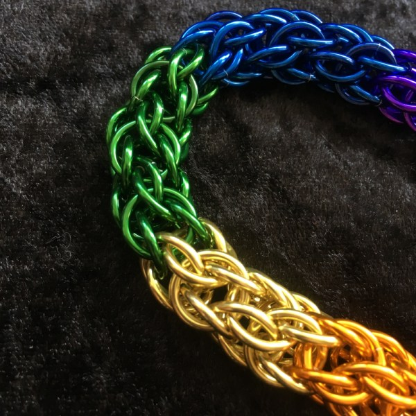 Rainbow Chainmaille Bracelet by Destai