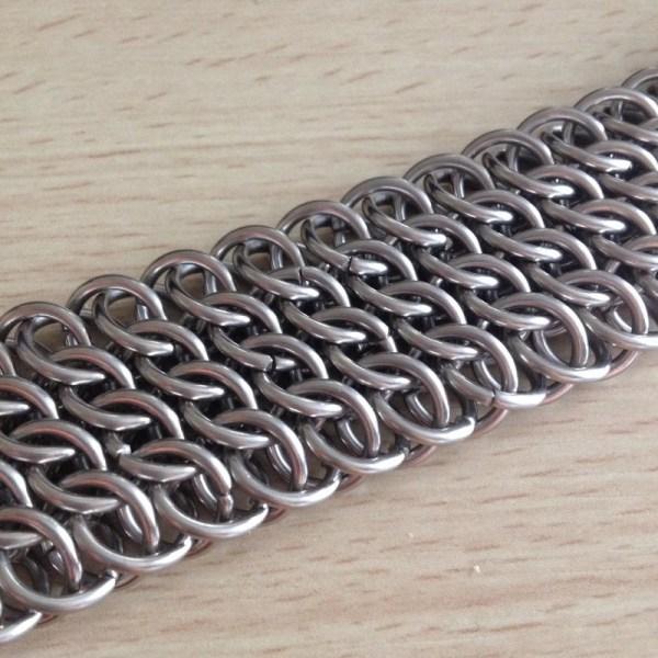 Chainmaille Cuff Bracelet by Destai