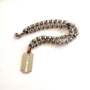 Razor Blade Necklace by Destai