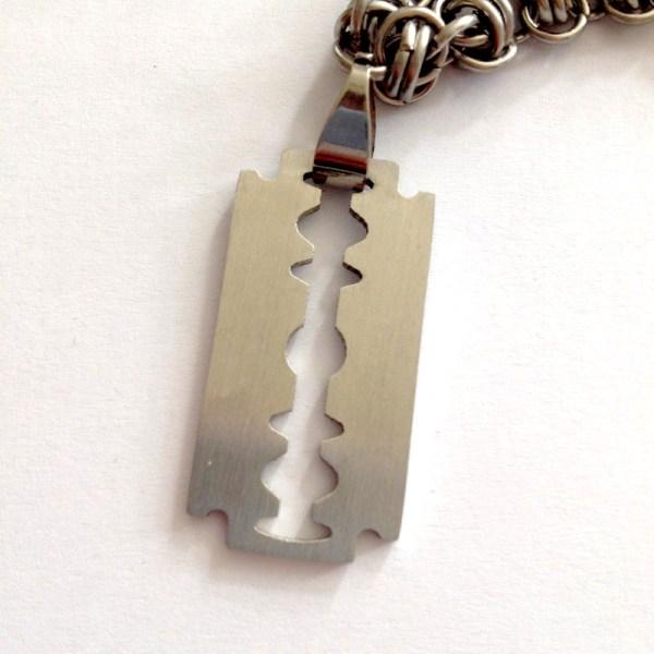 Razor Blade Necklace by Destai