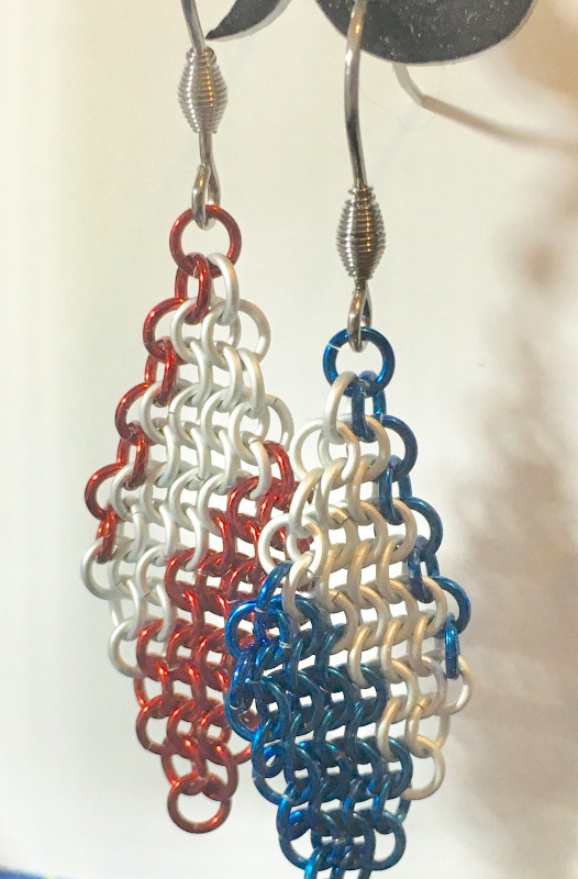 Chainmaille Earrings by Destai