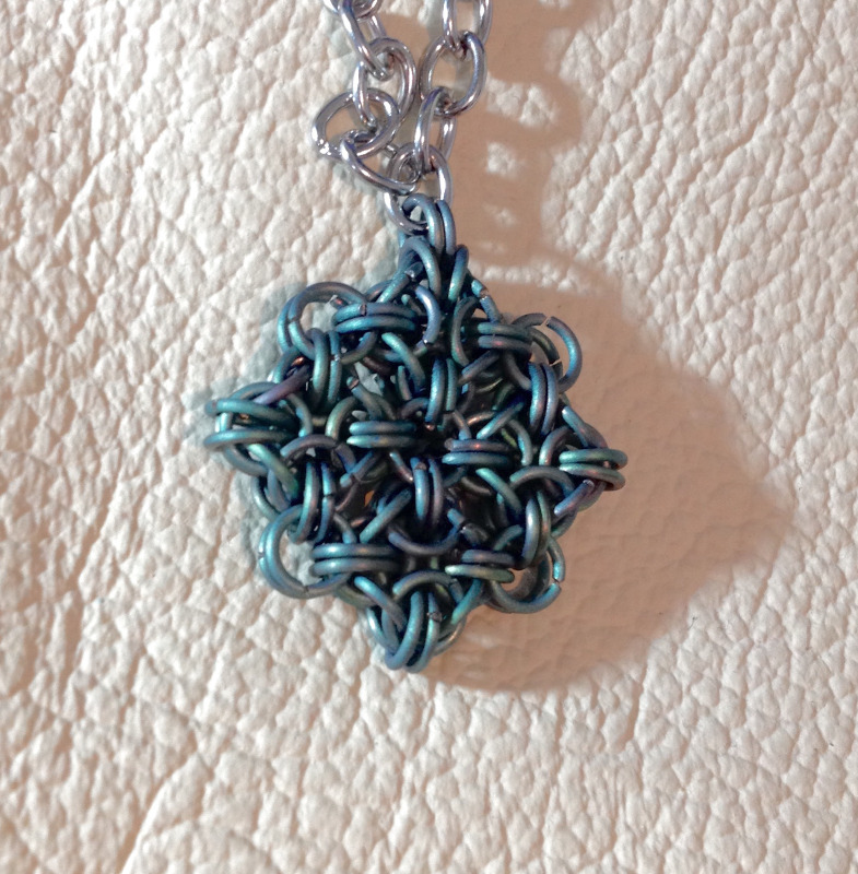Chainmaille Pendant by Destai