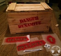 Home project. Dynamite crate. Maade with hand tools.