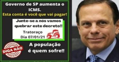 Tratoraço contra o aumento dos impostos de Doria ganha rápida adesão no interior de S. Paulo
