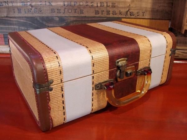 Vintage Suitcase With Painted Details Destashio