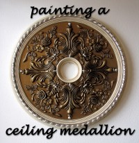 How-To Paint a Ceiling Medallion | destashio