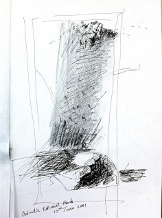 Sketch in Katherine Gorge 1, 2001
