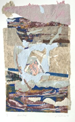 Rock Pool, 2016, collage with handmade paper, 40x30 cm