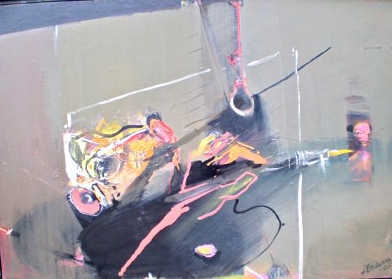 Between Boundaries 1, oil on canvas, 56x85 cm
