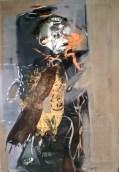 Artwork titled Masked Escarpment 1, 2013, intaglio, gouache and pastel 95x66 cm