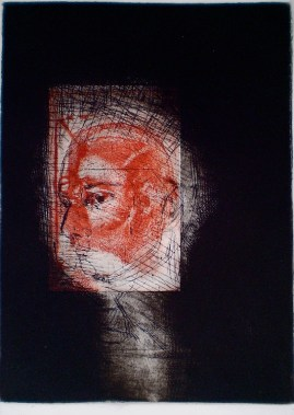 In Focus, 1/1, 2009, intaglio and drypoint 25x18 cm print, 50x35 cm paper