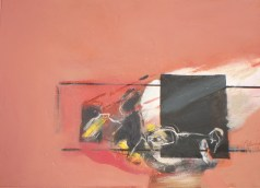 Titled Maria Located the Golden Spike, 2013, 54x72 cm, oil on gessoed paper