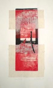 Iron Ore, 2014, 38x26 cm print, 50x38 cm paper, intaglio, chine-colle, collage.