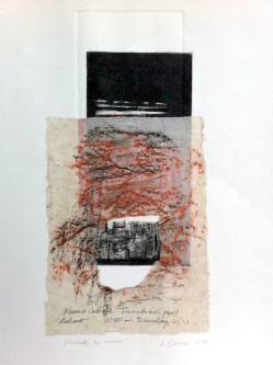 Etching by Water, 2014, 50x35 cm, intaglio and frottage.