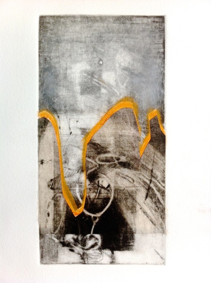 Fracture, 2014, intaglio and chine colle