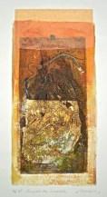 Beneath the Lunette, 2/15, V.E., 2015, collagraph and chine-colle, 30x16 cm