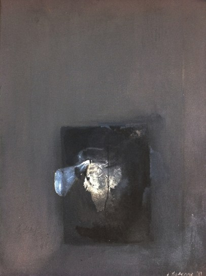 Something about Vision 2, 2011-15, intaglio and oil paint on canvas