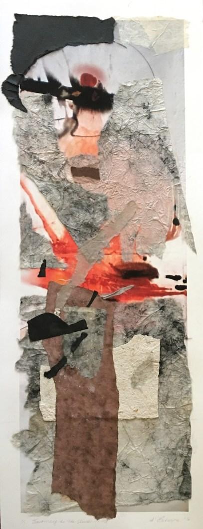 Journey to the Underworld, 2016, digital, ricepaper and handmade paper, 75x30 cm