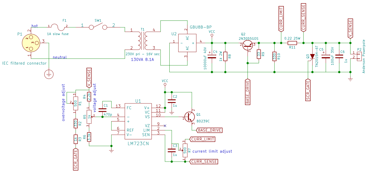 hight resolution of 12v 5a linear power supply schematic