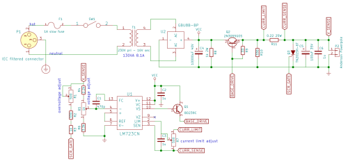 small resolution of 12v 5a linear power supply schematic