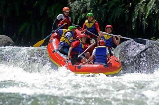Wisata Arung Jeram Sumatera Selatan : Arung Jeram Sungai Endikat