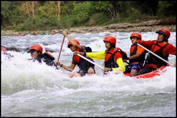 Wisata Arung Jeram Sumatera Selatan : Arung Jeram Sungai Lematang