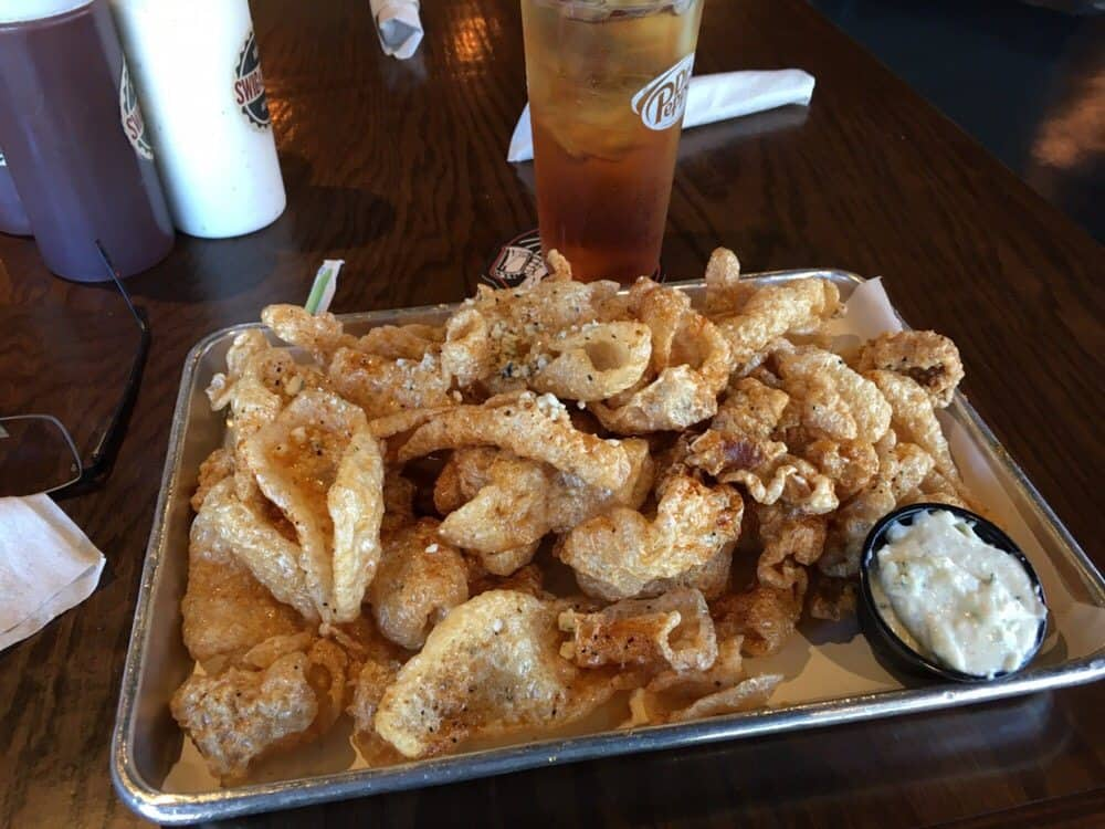 Swig and Swine's Pork Rinds with Tabasco Honey & Blue Cheese Recipe