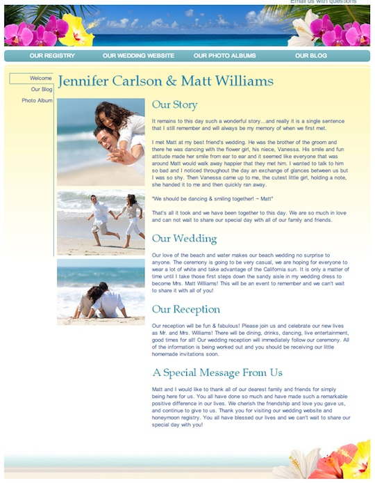 honeymoon_wishes_welcome page honeymoon registry review