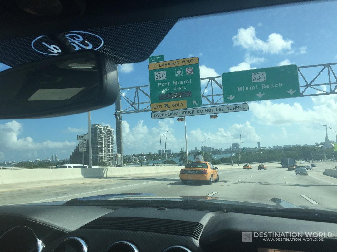 Auf dem Weg nach Miami Beach