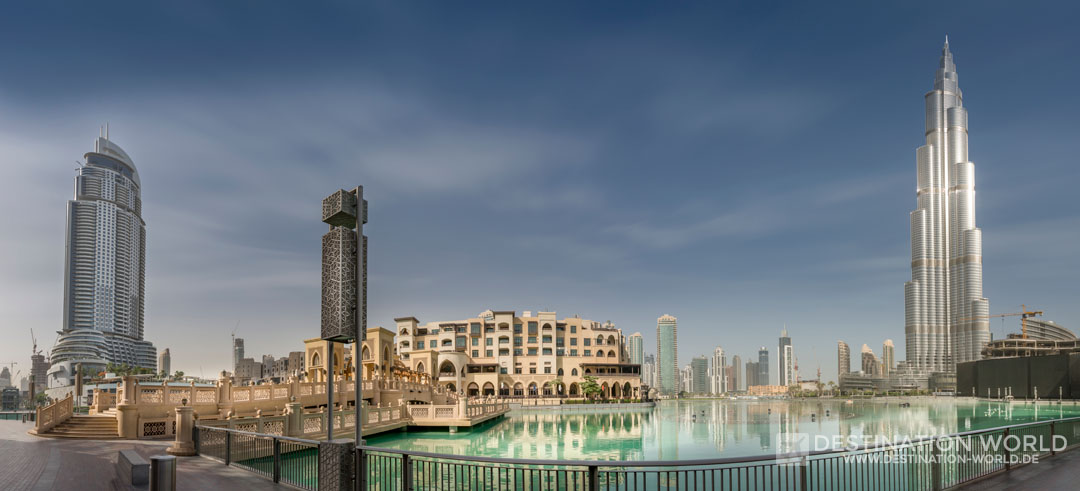 Vorplatz der Dubai Mall Menschenleer