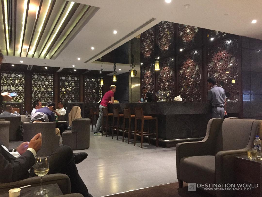 Kurz vor Ende der aufregenden Reise noch ein blick in die Lounge des Bengaluru Airports