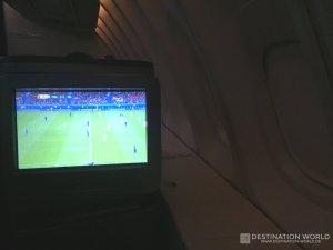 Live Fussball EM auf 35.000 Fuss Höhe in der Lufthansa Business Class