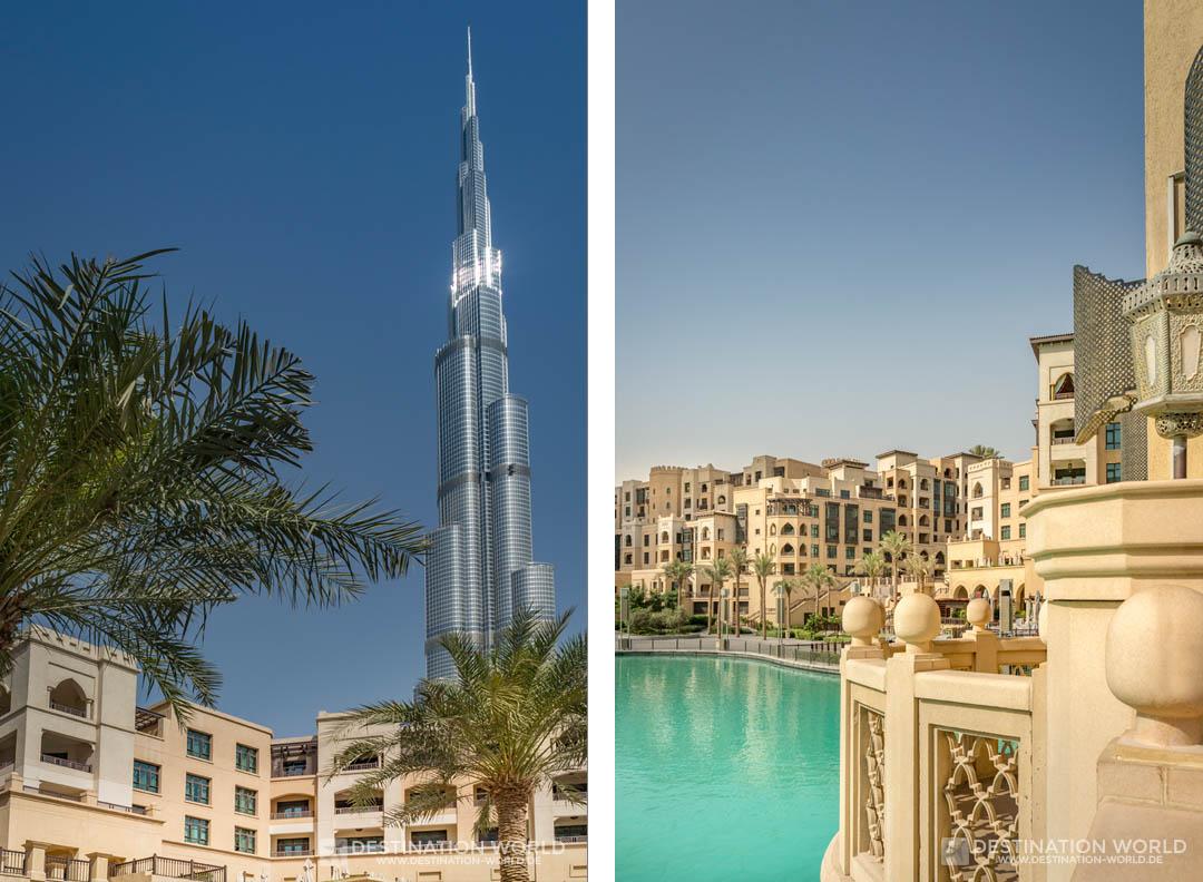 Der Burj Kalifa ist von überall in Downtown zu sehen
