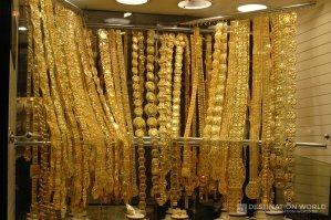 Im Dubai Gold Souk ist alles Gold was glänzt
