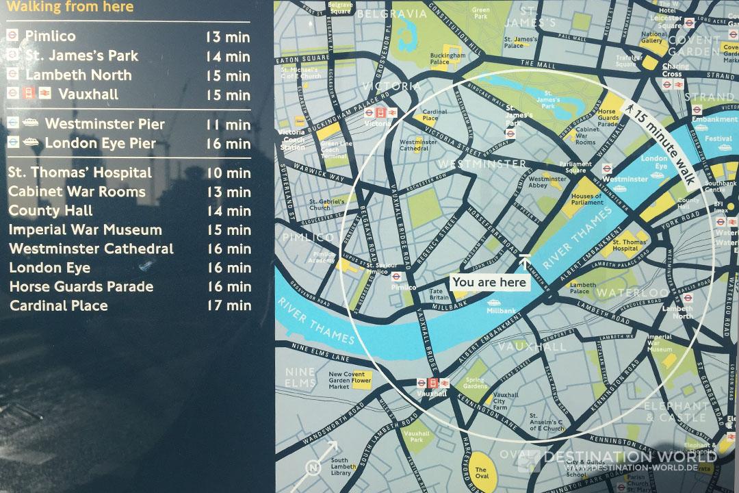 Stadtplan Lambeth Bridge London