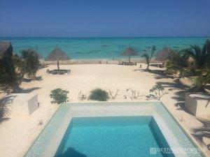 Blick von der Lounge über das NUR Beach Resort