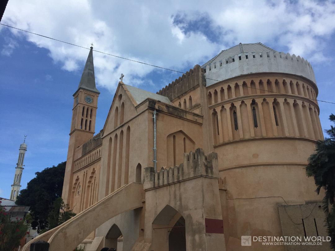 Die Anglican Cathedral hinter dem alten Sklaven Markt. Sansibar Reiseblog