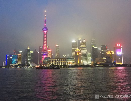Shanghais berühmte Skyline Pudong