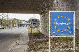 Grenzschild Luxembourg