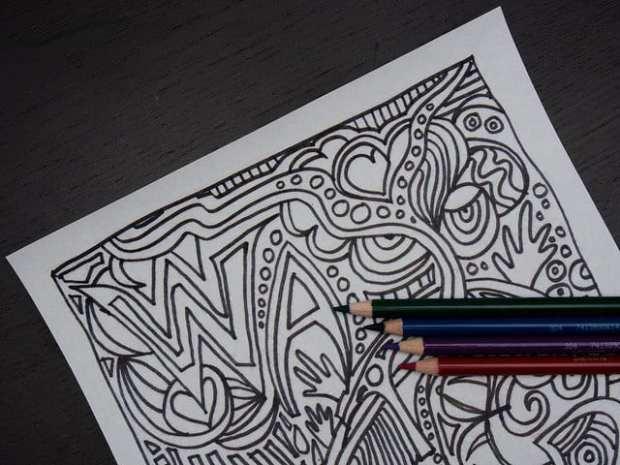 Chill anywhere anytime with coloring