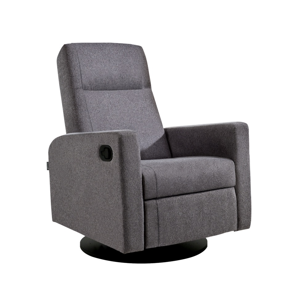 Swivel Recliner Chairs Dutailier Lula Swivel Recliner Chair Charcoal